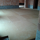 Dry screed with FiberTherm wood fibre board
