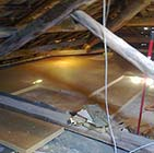 High thermal insulation attic with wood fibre board FiberTherm