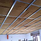 Insulated ceiling with flexible wood fibre board Flex