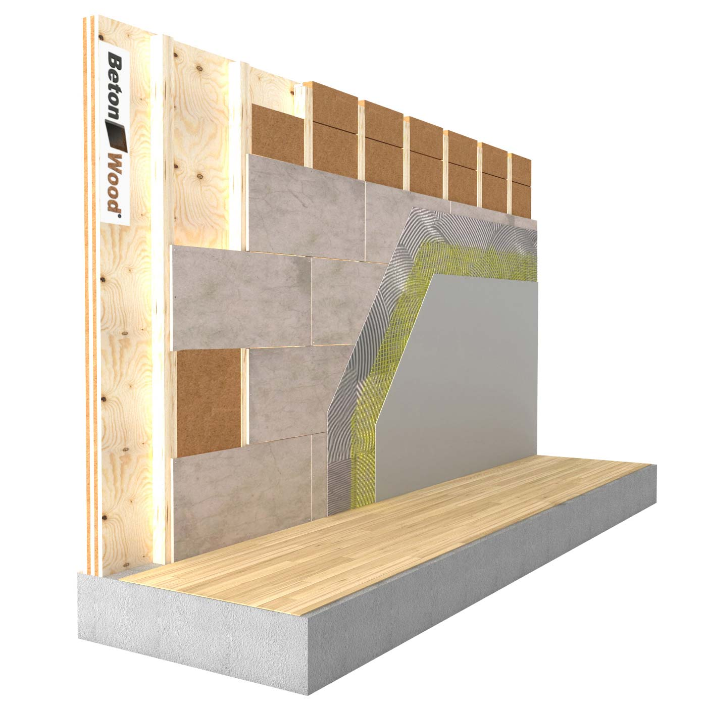 Internal insulation system in Protect Wood fibre board and cement bonded particle board