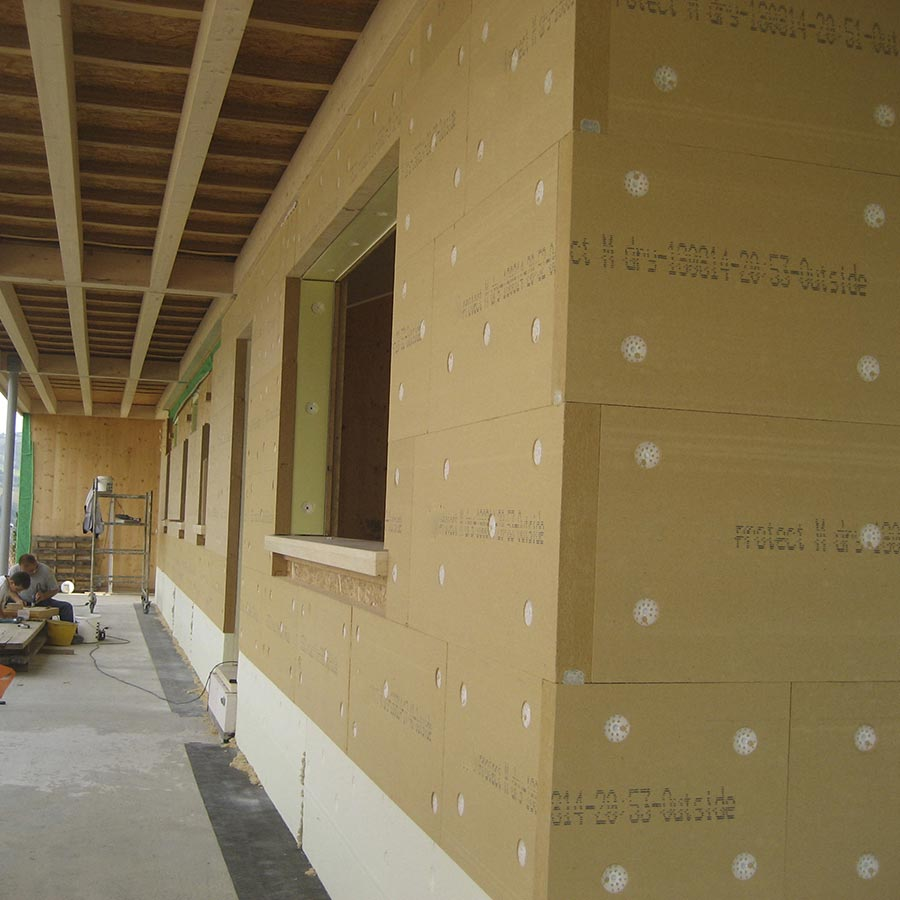Wood fibre board FiberTherm Protect densities 230, 265kg/mc thermal insulation system