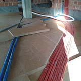 Dry screed with FiberTherm wood fibre board insulation