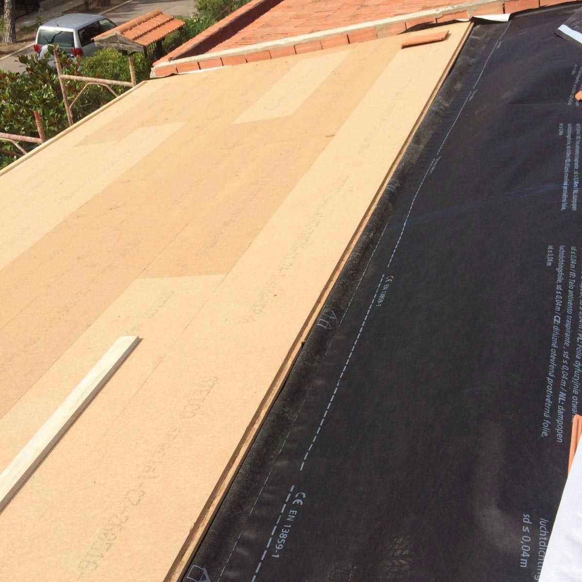Wood fibre board FiberTherm Special pitched roof insulation