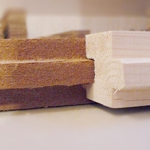 Wood fibre board FiberTherm Floor with tongue and groove profile