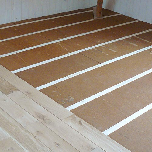 Wood fibre board FiberTherm Floor with thermal and acoustic insulation